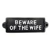 SKStyle Beware of The Wife Wall Decor