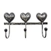 SKStyle Triple Heart Wall Mounted Coat Rack