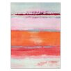 Kate and Laurel Omar Coral Gel Coated Painting Print on Wrapped Canvas