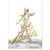 Kate and Laurel Gilded Paris Painting Print on Wrapped Canvas