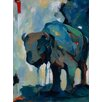 Kate and Laurel Watercolor Buffalo by Brooke Tangney Painting Print on Wrapped Canvas