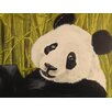 Buy Art For Less Happy Panda by Ed Capeau Painting Print on Wrapped Canvas