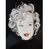 Buy Art For Less Kissy Face Marilyn by Ed Capeau Painting Print on Wrapped Canvas