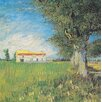 Buy Art For Less 'Farmhouse in a Wheat Field,1888' by Vincent Van Gogh Painting Print on Wrapped Canvas