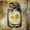 "Buy Art For Less Main Line Art & Design ""Inspire Jar"" by Brandi Fitzgerald Graphic Art on Wrapped Canvas"