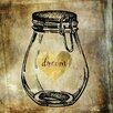 "Buy Art For Less Main Line Art & Design ""Dream Jar"" by Brandi Fitzgerald Graphic Art on Wrapped Canvas"