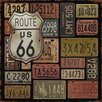 Buy Art For Less 'Route 66' by Jean Plout Graphic Art on Wrapped Canvas