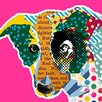 Buy Art For Less 'Pop Art Collie Dog' by Claudia Schöen Graphic Art on Wrapped Canvas