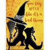 Buy Art For Less 'You Say Witch like It's a Bad Thing' Framed Graphic Art on Canvas