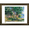 Buy Art For Less Museum Masters 'Landscape on the Coast, Near Menton' by Pierre-Auguste Renoir Framed Painting Print