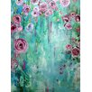"""Buy Art For Less """"Climbing Roses II"""" by Annie Flynn Painting Print on Wrapped Canvas"""