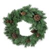GSC, Inc 140 Tips Christmas Pine Wreath with Natural Pine Cone