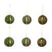GSC, Inc Ribbed Metal Christmas Ball Ornament (Set of 6)