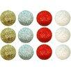 GSC, Inc 12 Piece Glitter Sequin Christmas Ball Ornament
