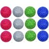 GSC, Inc 12 Piece Glitter Pearls Christmas Ball Ornament