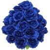 Admired by Nature Artificial Blooming Rose Flowers Bush