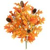 Admired by Nature 9 Stems Artificial Maple Leaves, Pine Cones and Berries Foliage Bush for Home, Fall Wedding, Halloween or Thanksgiving Decoration Arrangement