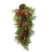Admired by Nature Faux Berries and Natural Pine Cones Christiams Teardrop
