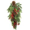 Admired by Nature Faux Berries Natural Pine Cones and Cedar Christiams Teardrop