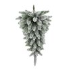 Admired by Nature Christmas Pine Teardrop Swag with Frosted Snow