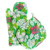 Two Lumps of Sugar 2 Piece Aloha Oven Mitt Pot Holder Set