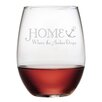 Breakwater Bay Westport Home is Where the Anchor Drops 21 oz. Wine Glass (Set of 4)