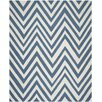 Breakwater Bay Beacon Falls Hand-Woven Blue/Ivory Area Rug