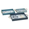 Breakwater Bay Regatta 3 Piece Tray Set