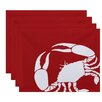 Breakwater Bay Shirley Mills Crab Dip Animal Print Placemat (Set of 4)