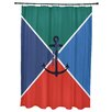 Breakwater Bay Hancock Anchor Flag Geometric Print Shower Curtain