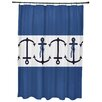 Breakwater Bay Hancock Anchor Stripe Print Shower Curtain