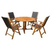 Breakwater Bay Sabbattus 5 Piece Outdoor Dining Set