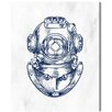 Breakwater Bay Antique Diving Graphic Art on Wrapped Canvas