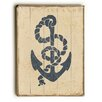 Breakwater Bay Blue Anchor with Rope Graphic Art