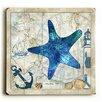 Breakwater Bay Starfish on Map Graphic Art
