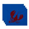 Breakwater Bay Hancock Lobster Coastal Placemat (Set of 4)