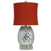 Harp and Finial Jackson 32.5'' Table Lamp with Drum Shade