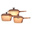 Visions Visions Saucepan Set with Lids
