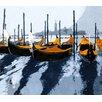 MADEMOISELLE TISS Gondoles Venise Orange Wall Hanging