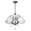 LightPrestige Chiari 5 Light Crystal Chandelier