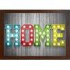GiggleBeaver Gerahmtes Poster Carnival Light Home, Grafikdruck