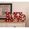 GiggleBeaver Wanddekoration Carnival Light Word Love