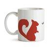 GiggleBeaver Woodland Creature Comforts Squirrel Mug (Set of 2)