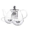 Krauff Term 3-Piece Glass Tea Set
