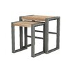 ASTA Home Furnishing Industrial 2 Piece Nesting Tables