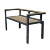 ASTA Home Furnishing California Room Avalon Teak and Metal Park Bench
