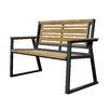 ASTA Home Furnishing California Room Classic Teak and Iron Park Bench