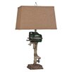 """Lamps Per Se 27"""" H Table Lamp with Empire Shade"""