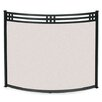 Pilgrim Hearth Bowed Portfolio 1 Panel Steel Fireplace Screen