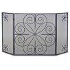 Pilgrim Hearth Elements 3 Panel Iron Fireplace Screen
